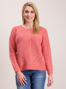 Pink Chunky Cable Jumper