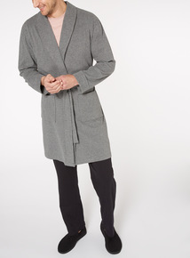 Charcoal Jersey Dressing Gown