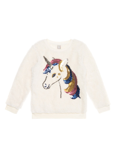 White Novelty Unicorn Fleece (3-12 years)