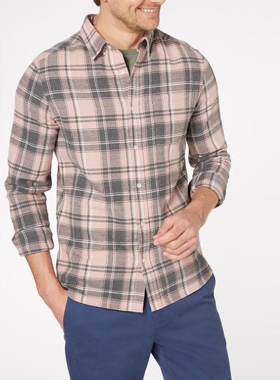 Pink Long Sleeve Check Shirt