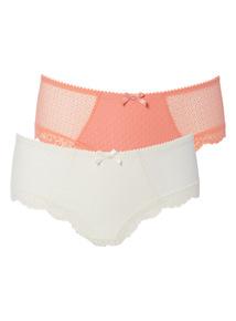 Orange Mesh Shorts 3 Pack
