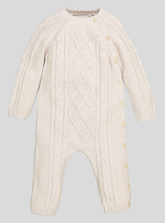 11be473d9 Baby Cable Knitted Romper (Newborn- 12 Months)