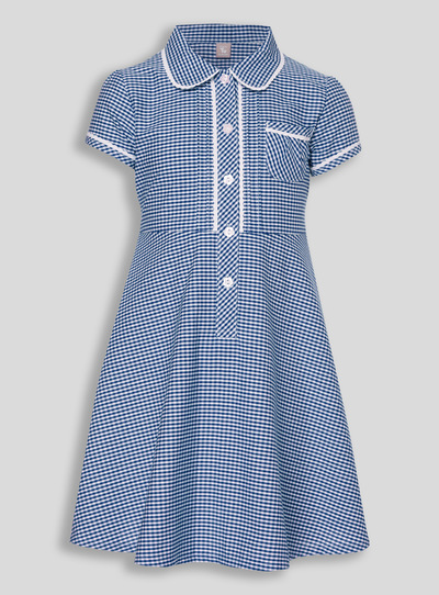 Navy Generous Fit Gingham Dress (3 - 12 years)