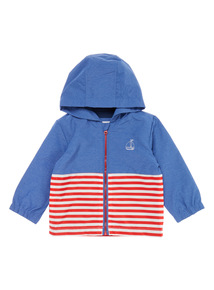 Boys Blue Striped Jacket (0-24 months)