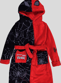 Disney Marvel Red & Black Spiderman/Venom Dressing Gown (1-12 Years)
