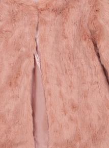 Pink Faux Fur Coat (3 - 14 years)
