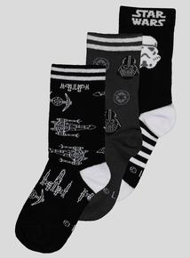 Star Wars Socks 3 Pack (Infant 9- 6.5 Adult)