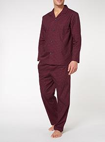 Purple Spotted Traditional Pyjamas