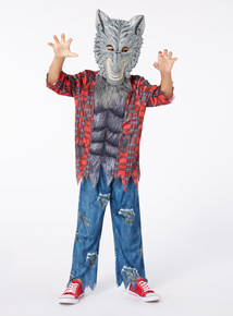 Halloween Werewolf with Sound and Mask Outfit (3 - 14 years)