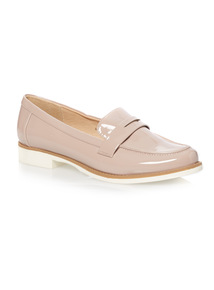 Pink Patent Loafers
