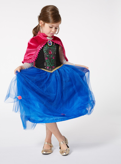 Blue Disney Frozen Anna with Sound Costume (2-12 years)