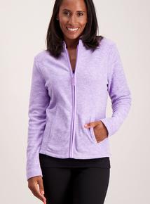 Lilac Zip Up Fleece