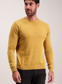 Ochre Yellow Knitted Jumper