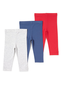 Multicoloured 3 Pack of Leggings (0-24 months)