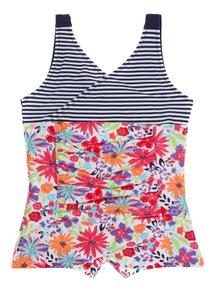 Navy Floral Swimsuit (3 - 12 years)
