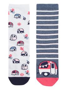 2 Pack Pattern Socks