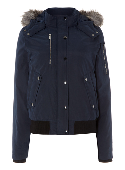 new high quality look for great fit SKU HOODED BOMBER AW15:Navy