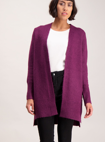 Purple Button Seam Cardigan