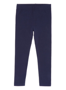 Navy Plain Leggings (3-14 years)