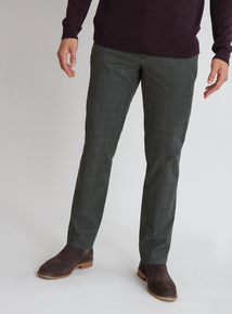 Premium Grey Check Slim Fit Trousers