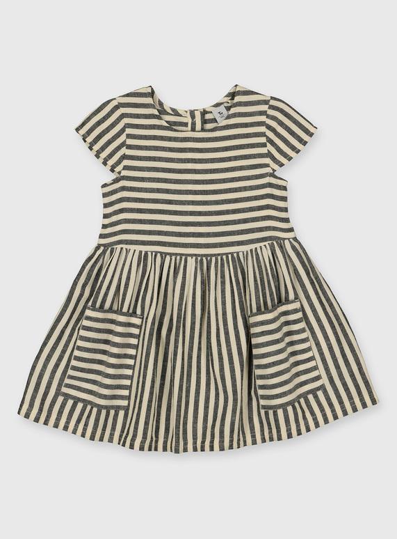 kids striped woven dress