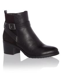 Black Block Heel Ankle Boots