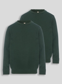 Green Crew Sweatshirts 2 Pack (3-12 years)