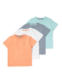4 Pack Multicoloured Marl T-Shirts (9 months-6years)
