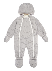 Grey Chevron Snowsuit (0-24 months)