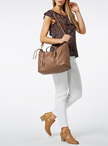 Bronze Washed Bowler Bag