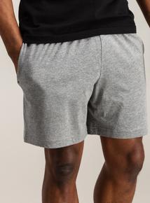 Navy & Grey Marl Jersey Pyjama Shorts 2 Pack