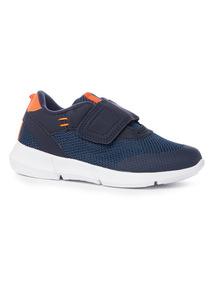Navy and Orange Velcro Trainers