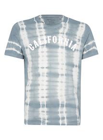 Grey California Tie Dye Tee