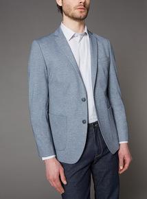 Light Blue Slim Fit Jacket