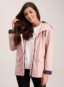 Pink Shower Resistant Raincoat