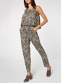 Leaf Pattern Jumpsuit