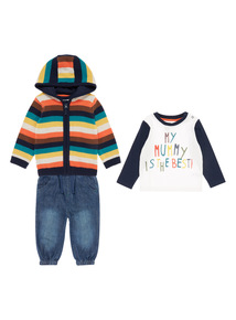 Boys Multicoloured Fox Knit Set (0-24 months)