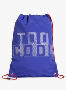 Blue 'Too Cool' Slogan Kit Bag (One Size)
