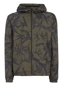 Online Exclusive Khaki Printed Shower Resistant Mac With Teflon