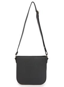 Black Cross Body Saddle Bag
