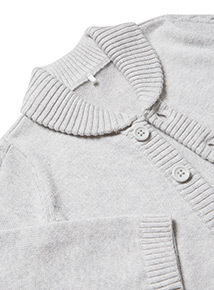 Grey Collared Cardigan (Newborn- 18 Months)
