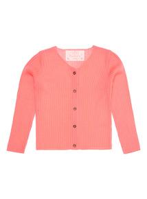 Pink Ribbed Cardigan (3 - 12 years)
