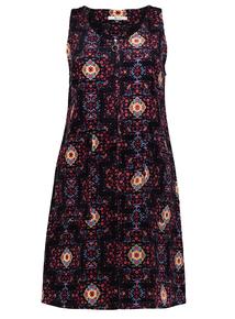 Online Exclusive Folk Pattern Shift Pinafore Dress