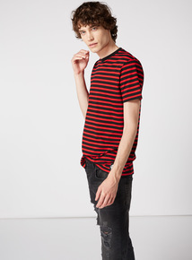 GFW Red Oversized Stripe T-Shirt