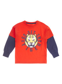 Red and Blue Go Get Em Tiger Tee (9 months - 6 years)