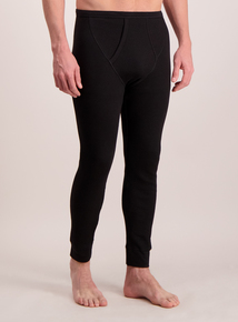 Black Long Thermal Pants