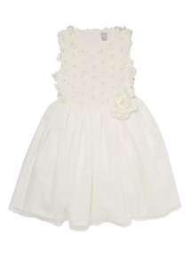White Georgette Floral Dress (1 - 12 years)