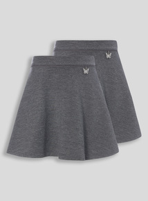 Grey Jersey Skirts 2 Pack (3-12 years)