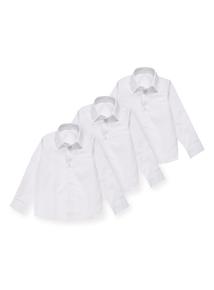 Unisex White Bionic Cotton School Shirts 3 Pack (3-12 years)