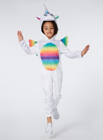 Girls Multicoloured Unicorn Costume (1-8 years)